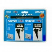 Brother LC-37BK2PK Black Genuine Original Printer Ink Cartridge Twin Pack