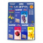 Brother LC-37CL3PK Colour Cyan + Magenta + Yellow Genuine Original Printer Ink Cartridge Value Pack 3X