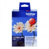 Brother LC-39BK2PK Black Genuine Original Printer Ink Cartridge Twin Pack