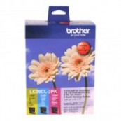 Brother LC-39CL3PK Colour Cyan + Magenta + Yellow Genuine Original Printer Ink Cartridge Value Pack 3X