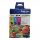 Brother LC-40CL3PK Colour Cyan + Magenta + Yellow Genuine Original Printer Ink Cartridge Value Pack 3X