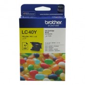 Brother LC-40Y Yellow Genuine Original Printer Ink Cartridge