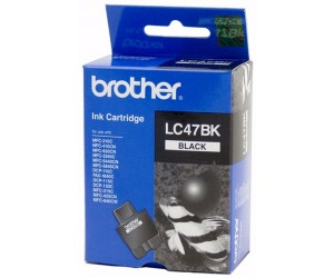 Brother LC-47BK2PK Black Genuine Original Printer Ink Cartridge Twin Pack