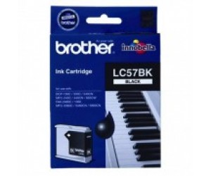 Brother LC-57BK Black Genuine Original Printer Ink Cartridge
