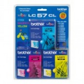 Brother LC-57CL3PK Colour Cyan + Magenta + Yellow Genuine Original Printer Ink Cartridge Value Pack 3X