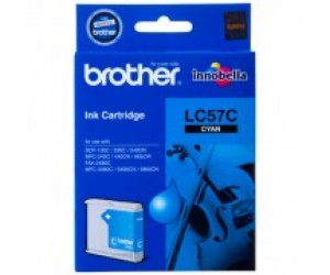 Brother LC-57C Cyan Genuine Original Printer Ink Cartridge