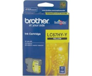 Brother LC-67HYY Yellow Genuine Original Printer Ink Cartridge