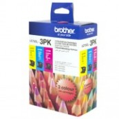 Brother LC-73CL3PK Colour Cyan + Magenta + Yellow Genuine Original Printer Ink Cartridge Value Pack 3X