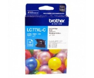 Brother LC-77XLC Cyan Genuine Original Printer Ink Cartridge