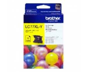 Brother LC-77XLY Yellow Genuine Original Printer Ink Cartridge