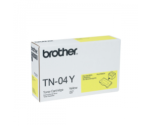 Brother TN-04Y Yellow Genuine Original Printer Toner Cartridge