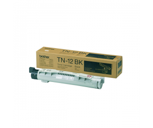 Brother TN-12BK Black Genuine Original Printer Toner Cartridge