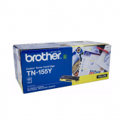 Brother TN-155Y High Yield Yellow 4K Print Yield Genuine Original Printer Toner Cartridge