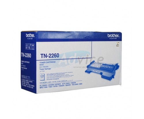 Toner Brother tn 2260 Brother Tn-2260 Black Original