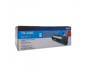 Brother TN-348C Super High Cyan 6K Print Yield Genuine Original Printer Toner Cartridge