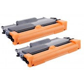TonerGreen TN-2260 Black Compatible Printer Toner Cartridge Value Pack 2X