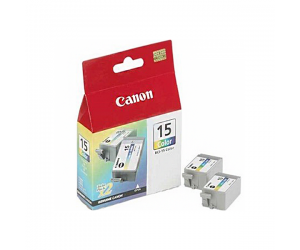 Canon BCI-15CLR (8191A004AA) Colour Ink (7.5ml x 2) Genuine Original Printer Ink Cartridge