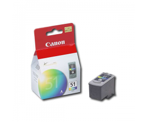 Canon CL-51 (0618B003AA) Colour Fine Cartridge (21ml) Genuine Original Printer Ink Cartridge