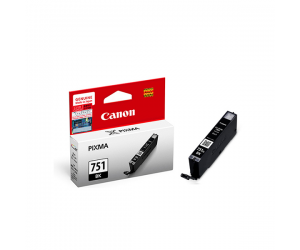 Canon CLI-751BK (6518B001AA) Black Dye Ink Tank (7ml) Genuine Original Printer Ink Cartridge