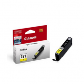 Canon CLI-751Y (6521B001AA) Yellow Dye Ink Tank (7ml) Genuine Original Printer Ink Cartridge