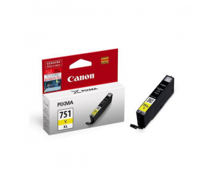 Canon CLI-751Y XL (6456B001AA) Yellow Dye Ink Tank (11ml) Genuine Original Printer Ink Cartridge
