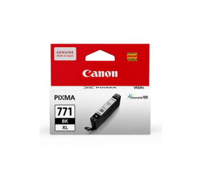 Canon CLI-771BK XL (0341C001AA) Black Dye Ink Tank (10.8ml) Genuine Original Printer Ink Cartridge