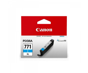 Canon CLI-771C XL (0342C001AA) Cyan Dye Ink Tank (10.8ml) Genuine Original Printer Ink Cartridge