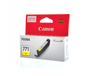 Canon CLI-771Y (0398C001AA) Yellow Dye Ink Tank (6.5ml) Genuine Original Printer Ink Cartridge