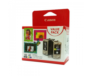 Canon PG-40 + CL-41 (0615B045AA) Black (16ml) + Colour (12ml) Genuine Original Printer Ink Cartridge Value Pack