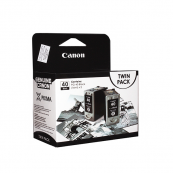 Canon PG-40BK (0615B033AA) Black (16ml) Genuine Original Printer Ink Cartridge Twin Pack