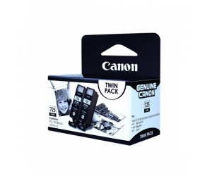 Canon PGI-725BK (4531B006AA) Black Pigment Ink Tank (19ml) Genuine Original Printer Ink Cartridge Twin Pack