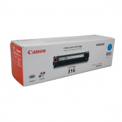 Canon Cartridge 316 (1979B003AA) Cyan Genuine Original Printer Toner Cartridge