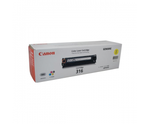 Canon Cartridge 316 (1977B003AA) Yellow Genuine Original Printer Toner Cartridge