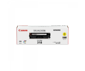 Canon Cartridge 318 (2659B003AA) Yellow Genuine Original Printer Toner Cartridge