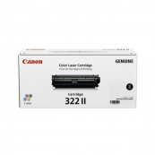 Canon Cartridge 322 II (2653B001AA) Black Genuine Original Printer Toner Cartridge