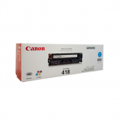 Canon Cartridge 418 (2661B004AA) Cyan Genuine Original Printer Toner Cartridge