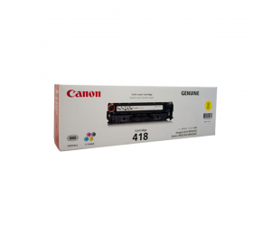 Canon Cartridge 418 (2659B004AA) Yellow Genuine Original Printer Toner Cartridge