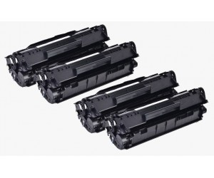TonerGreen Cartridge 303 (7616A004AA) Black Compatible Printer Toner Cartridge Super Pack 4X