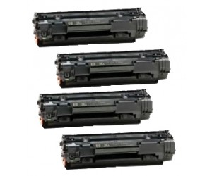 TonerGreen Cartridge 313 (1871B003AA) Black Compatible Printer Toner Cartridge Super Pack 4X