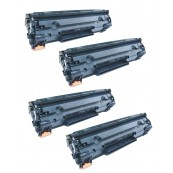 TonerGreen Cartridge 325 (3484B003AA) Black Compatible Printer Toner Cartridge Super Pack 4X