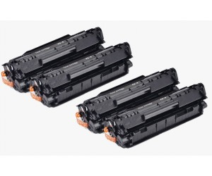 TonerGreen Cartridge FX-9 (0263B003BA) Black Compatible Printer Toner Cartridge Super Pack 4X