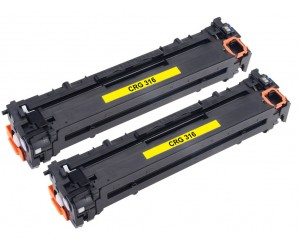 TonerGreen Cartridge 316 (1977B003AA) Yellow Compatible Printer Toner Cartridge Value Pack 2X