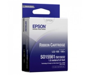 Epson S015561 Black Ribbon Cartridge