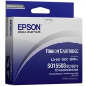 Epson S015508 Black Ribbon Cartridge