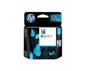 HP C4937A 18 Cyan Genuine Original Printer Ink Cartridge