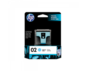 HP C8774WA 02 Light Cyan Genuine Original Printer Ink Cartridge