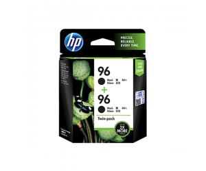 HP CC623AA 96 Black Genuine Original Printer Ink Cartridge Twin Pack