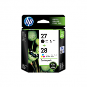 HP CC628AA 27 Black + 28 Tri-Colour Genuine Original Printer Ink Cartridge Combo Pack