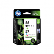 HP CC629AA 56 Black + 57 Tri-Colour Genuine Original Printer Ink Cartridge Combo Pack