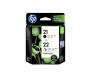 HP CC630AA 21 Black + 22 Tri-Colour Genuine Original Printer Ink Cartridge Combo Pack